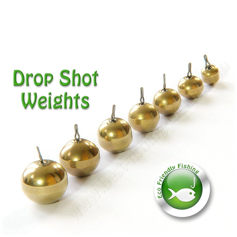 Brass Drop Shot Weights Round Sinker NON TOXIC No Lead Perch Zander Pike Fishing