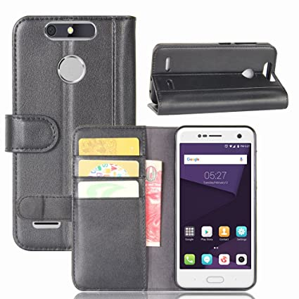 brand new 862bf f12d9 Amazon.com: AICEDA ZTE Blade V8 Mini - phone case Convenient Wallet ...