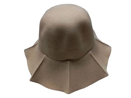 YueLian Mujer de Gorra Pescador Dulce La Ola de Ancho Sombrero Alrededor Lana de Hat(caqui)