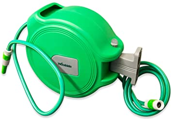 Woodside 20m Auto Rewind Retractable Wall Mounted Garden Hose Reel