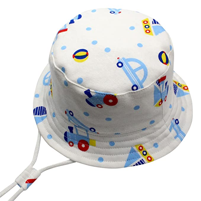 8aa1f5558 Toddler Sun Protection Bucket Hat 50+ SPF UV Protective Cartoon Hat for  0-10T