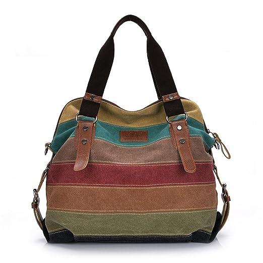 a72f00e67fc5 Amazon.com  Women Handbags Patchwork Casual Women Shoulder Bags Female  Messenger Bag Ladies Autumn Purse Pouch  Clothing