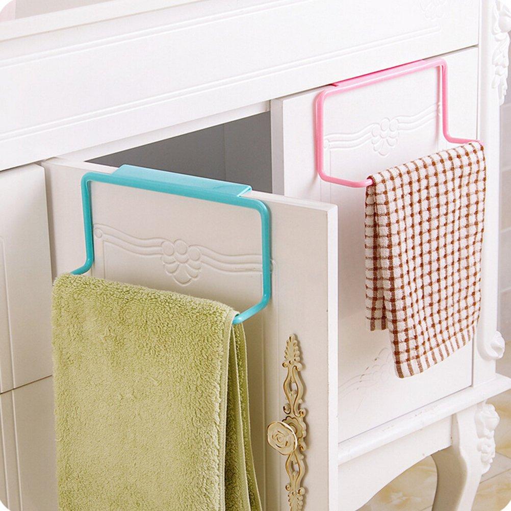 ultnice Rack porta asciugamani asciugamano per asciugamano con porta di una sola mano, multiuso (Verde)