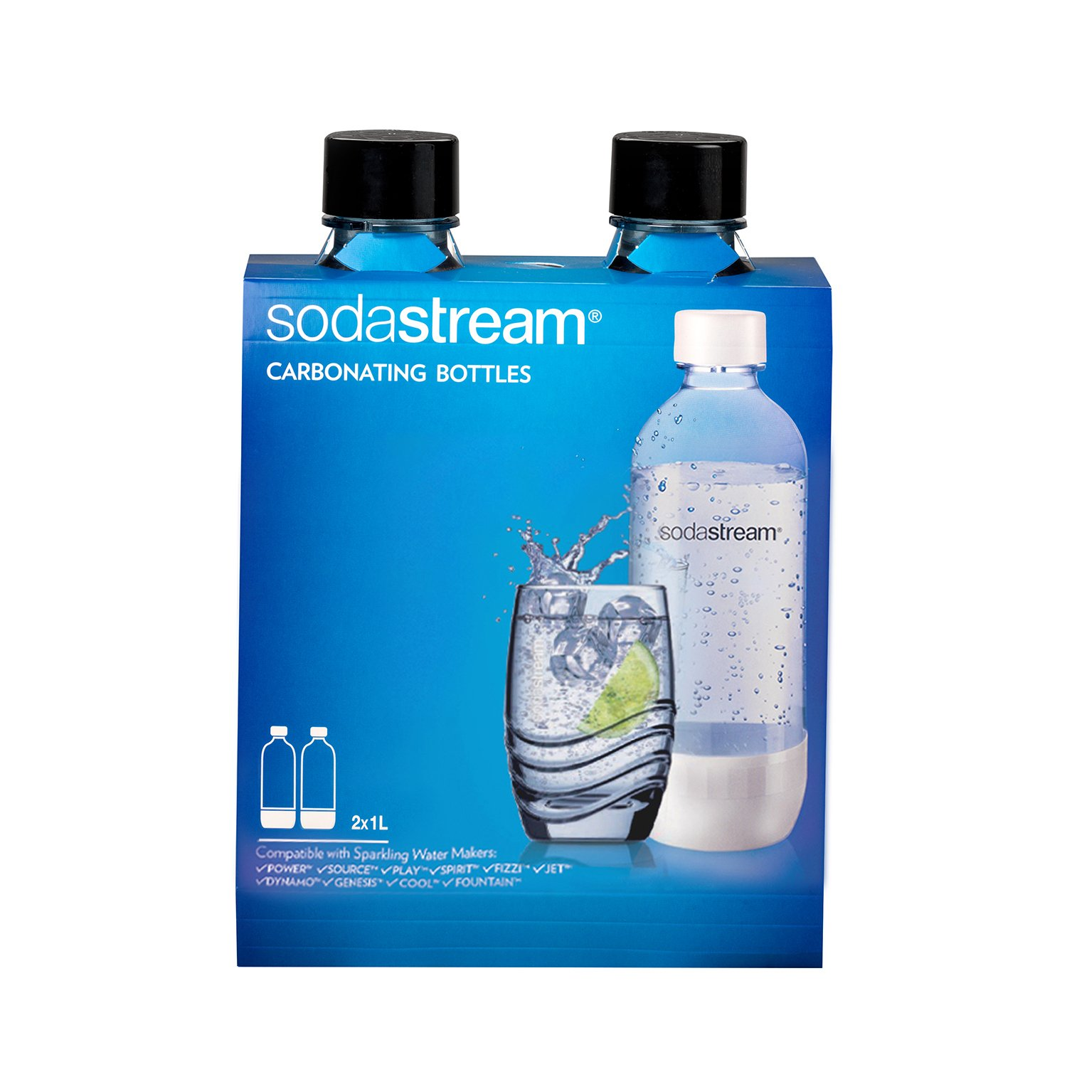 Sodastream 1l Carbonating Bottles- Black (Twin Pack) by SodaStream (Image #2)