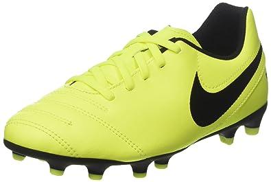 46c729398105 Nike Unisex Kids' Tiempo Rio III FG Football Boots, Yellow Black Volt, 1