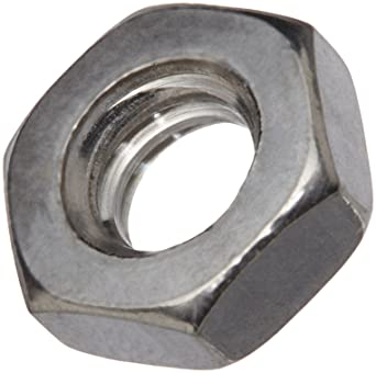 Small Parts Gray Pack of 100 Steel Hex Nut Plain Finish