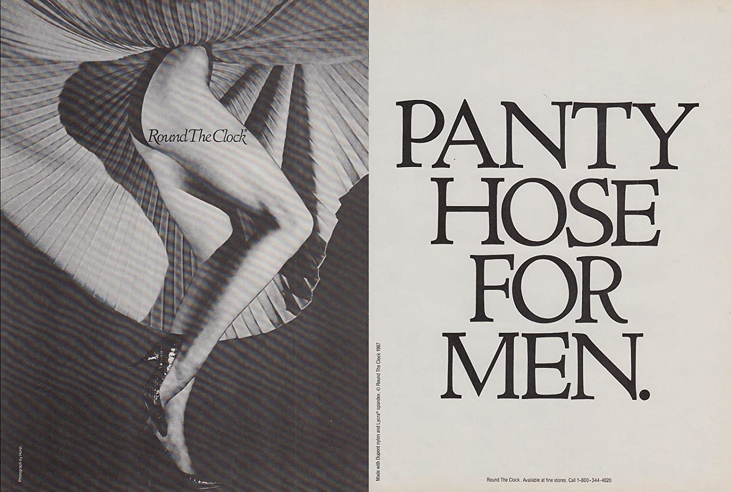 Clock round men pantyhose the for