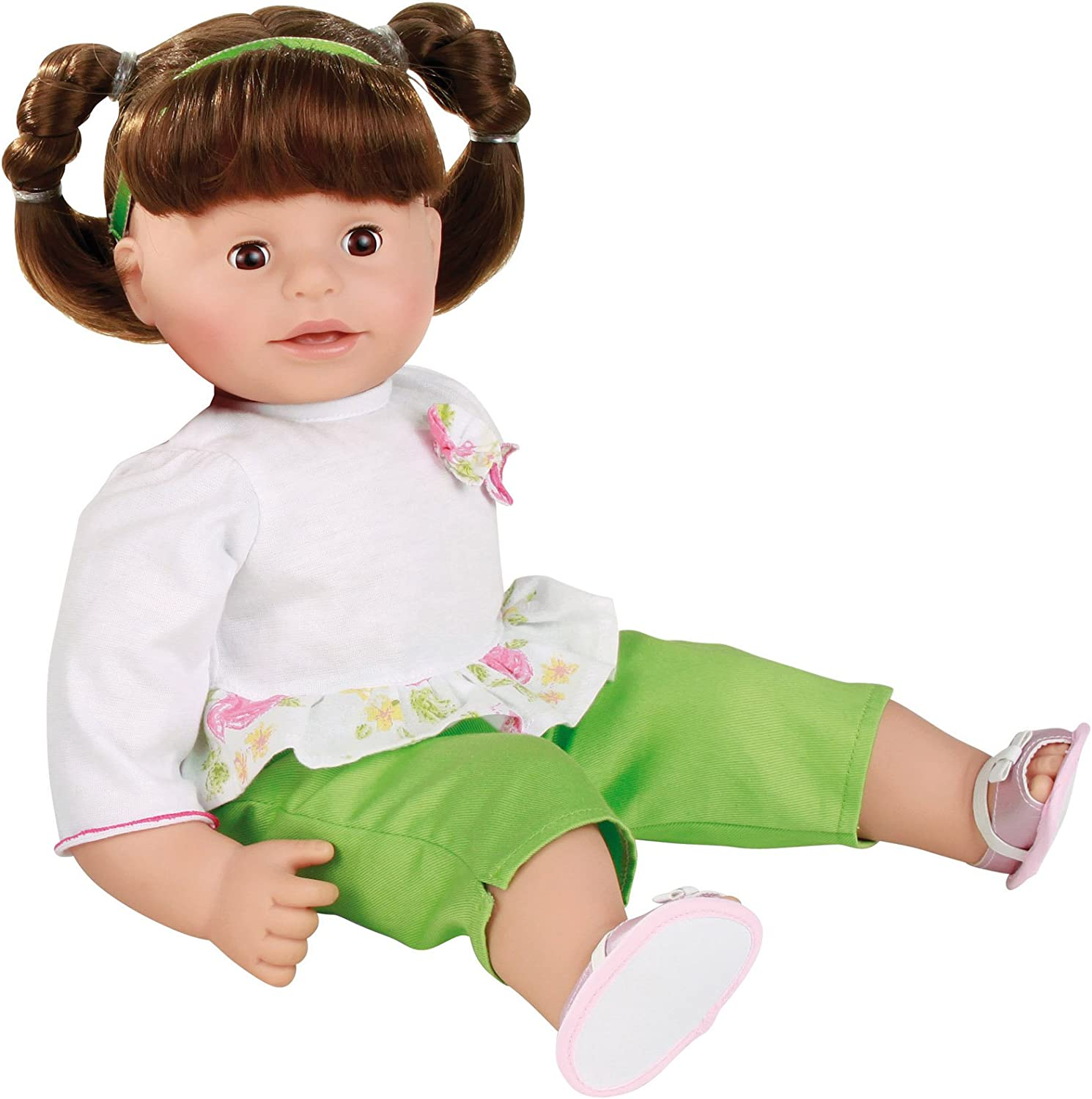 Toys R Us You /& Me Toddler Girl Baby Doll Brunette Hair Braid and Brown Eyes