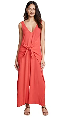 8fba3663653 Amazon.com  Mara Hoffman Women s Muriel Tie Front Cover up Jumpsuit ...