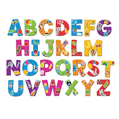 Learning Resources Alphabet Puzzle Cards, Early ABCs, Toddler Puzzle, 26-Self Correcting Puzzles, 52 Pieces, Ages 3+: Office Products