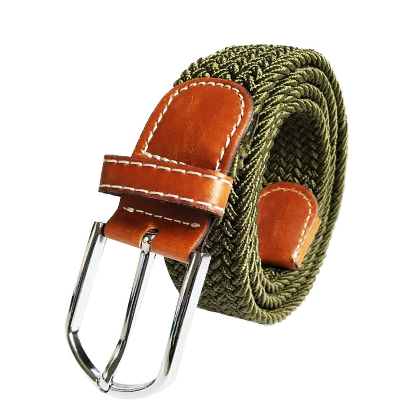 TIFENNY Fashion Woven Canvas Belt Adjustable Unisex Canvas Military Waist Combat Straps Tactical Outdoor Belt Army Green