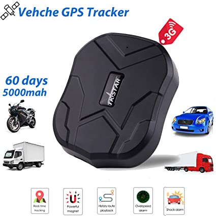 3G Vehicle GPS Tracker,TKSTAR Real-time GPS Tracker Waterproof Vehicles  Trucking Device Long Battery 60 Days Life Built-in Magnets Online Moving