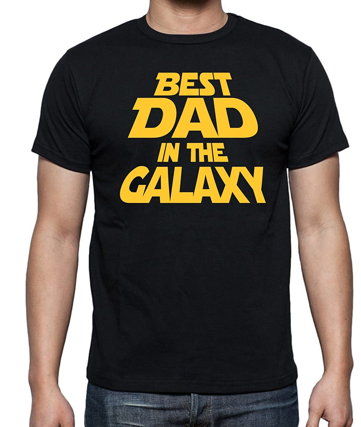 Funchious Best Dad in The Galaxy Funny Fathers Day Gift for Dad Novelty Men/'s Shirt