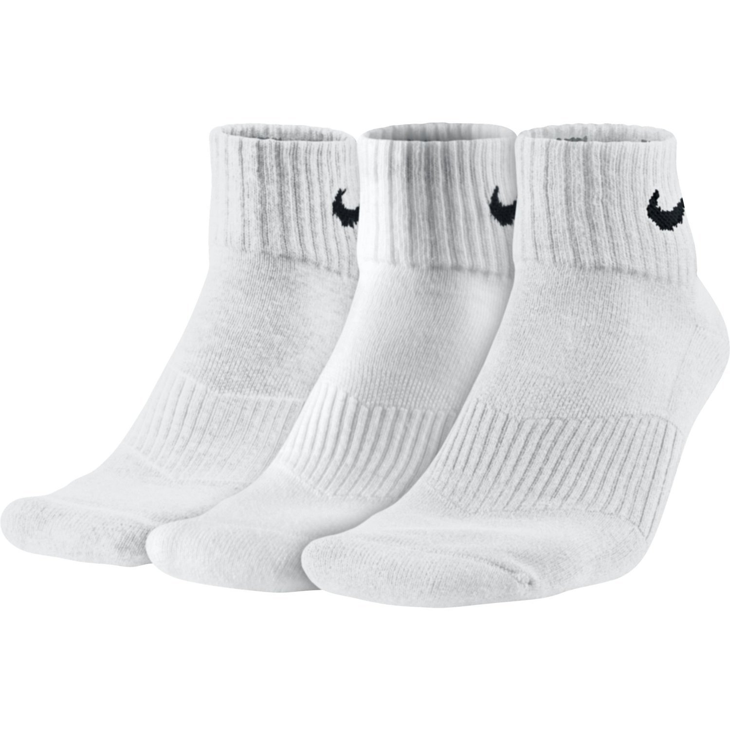 himno Nacional Privilegio Aumentar  Buy Nike SX4703-101 3PPK Cushion Quarter Socks, XXX-Large Online ...