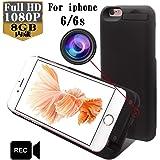 SeiTang iPhone 6/6sの4.7インチ用バッテリー内臓ケースカメラ モバイルバッテリー型ビデオカメラ動体検知機能付きスパイカメラ 内臓8GB (ブラック)