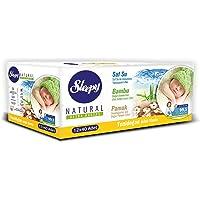 Sleepy Natural Yenidoğan Islak Pamuklu Havlu 12'li Paket 480 Yaprak