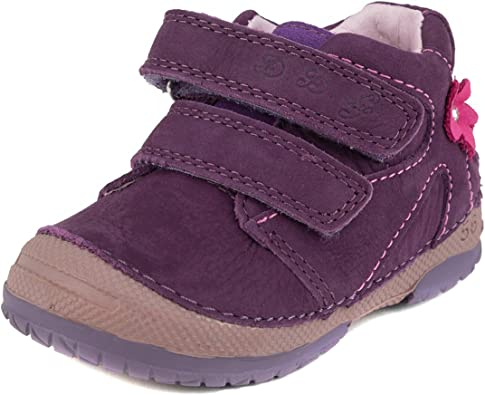 Toddler Size Genuine Leather 038-217E Step Girls Boots D D Grey with Pink Heart