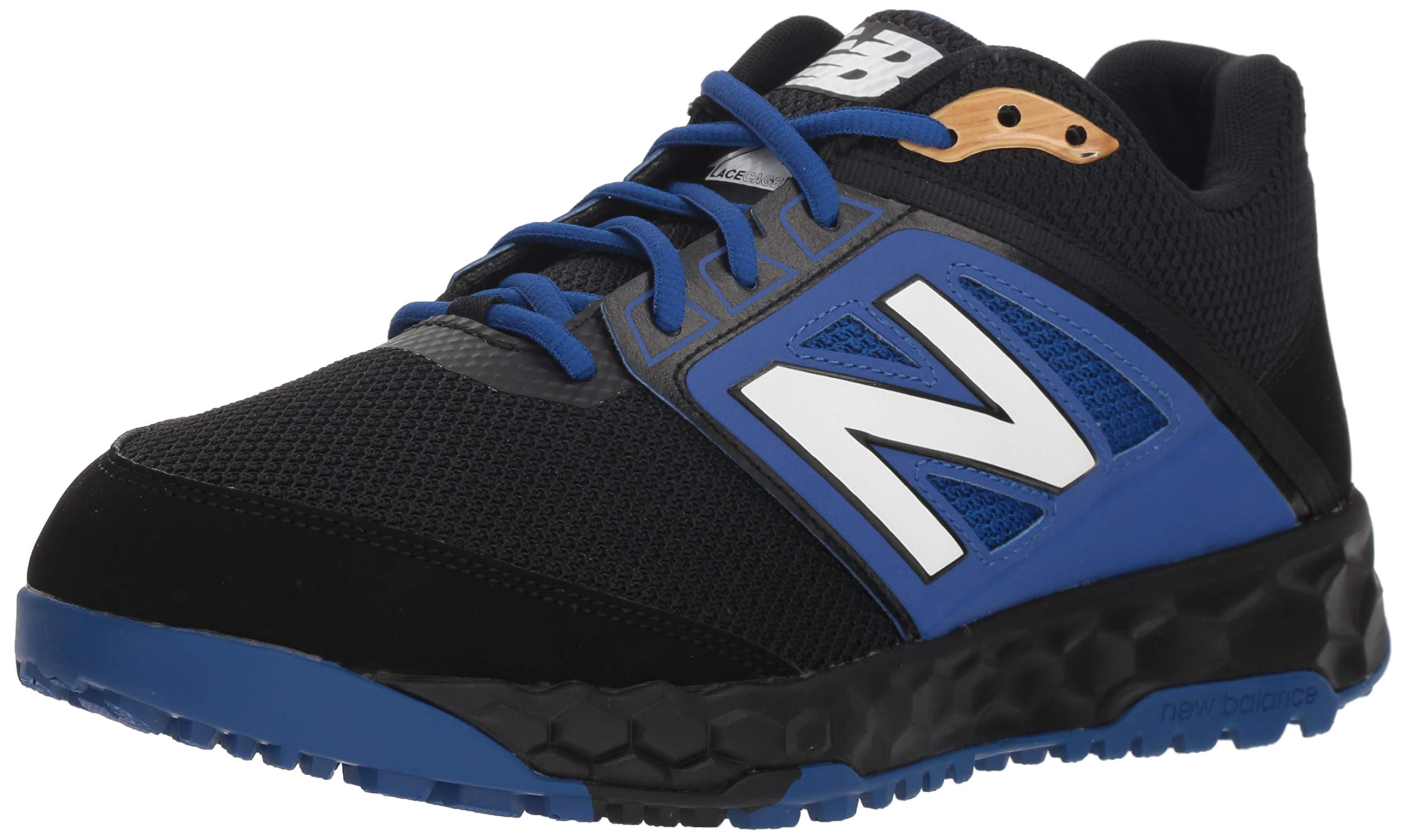 New Balance Men's 3000v4 Turf Baseball Shoe, Black/Blue, 5 D US