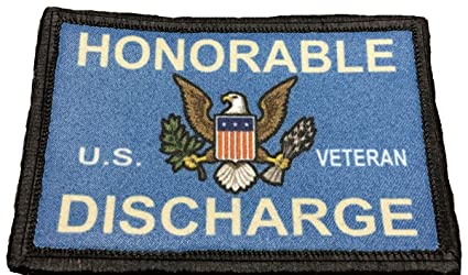 Amazon.com  Honorable Discharge Morale Tactical Military Patch Made ... b87054c31143