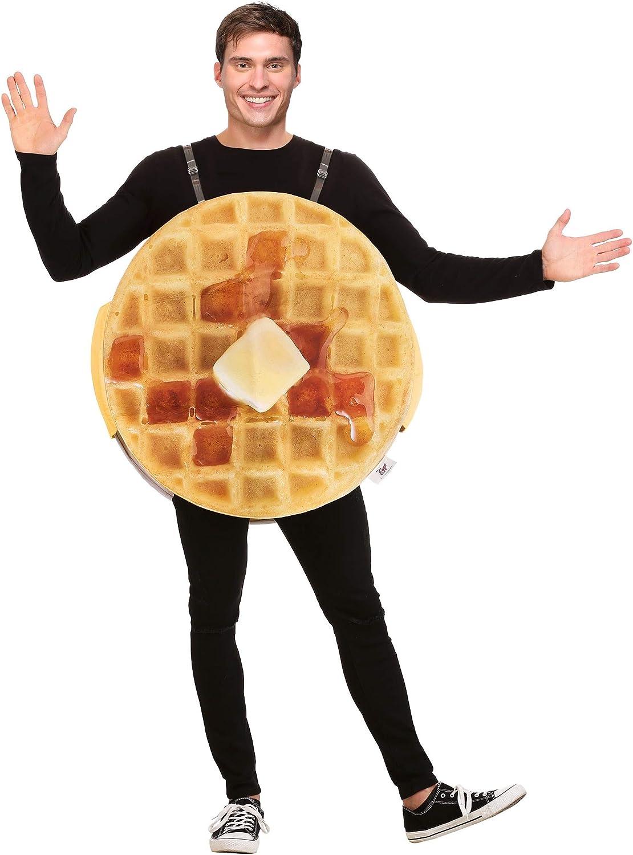 Adult Eggo Waffle Costume Mens Breakfast Food Costume
