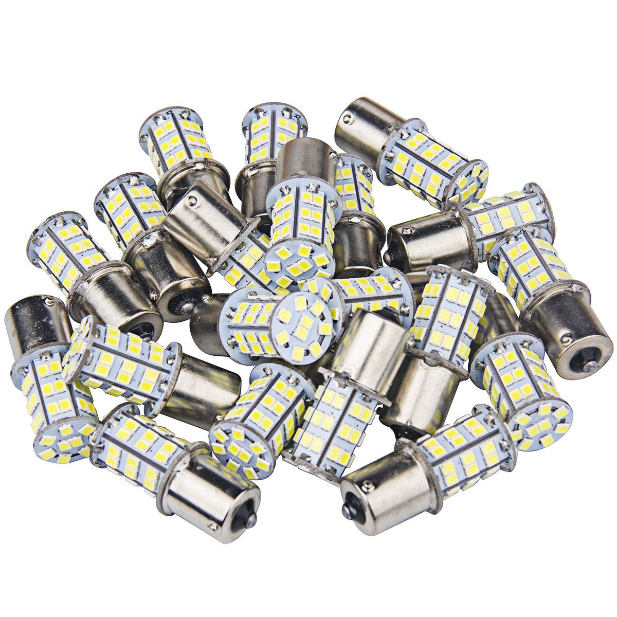 20 Pcs Extremely Bright 1156 1141 1003 1073 7506 BA15S LED Replacement Light Bulbs for Tail Backup Reverse Lights RV Indoor Lights 6000K Xenon White(12V DC) 71gh93drLqL