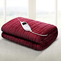 Giselle Bedding Washable Heated Electric Throw Rug Snuggle Blanket Coral Fleece Heat All Season