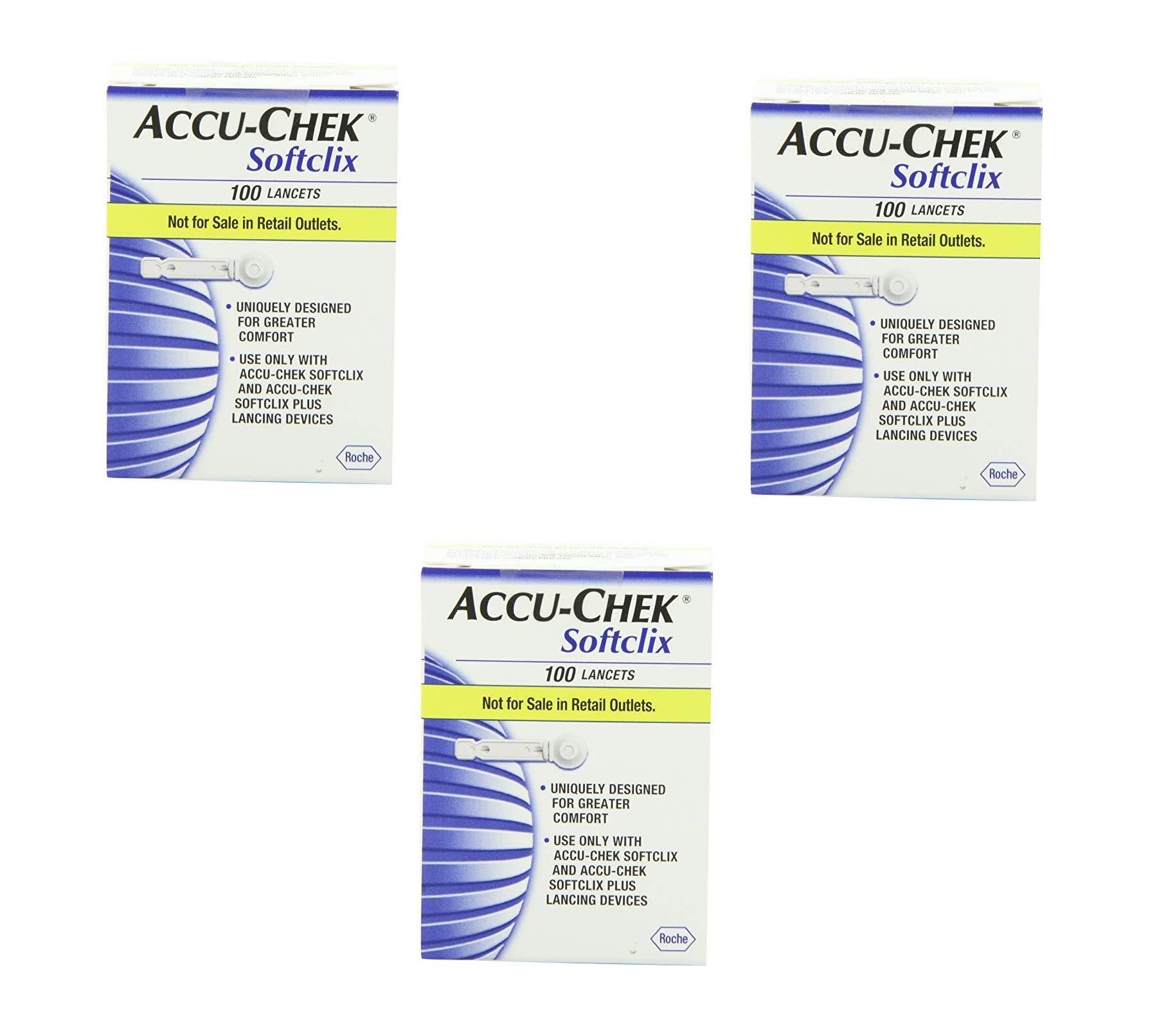 Accu Chek Soft Clix Lancets, 100 Count (100 Count - 3 Pack)