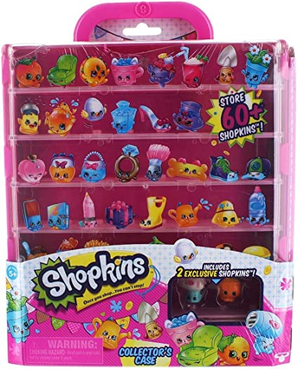 Shopkins Display Case Pink Clear With Handle