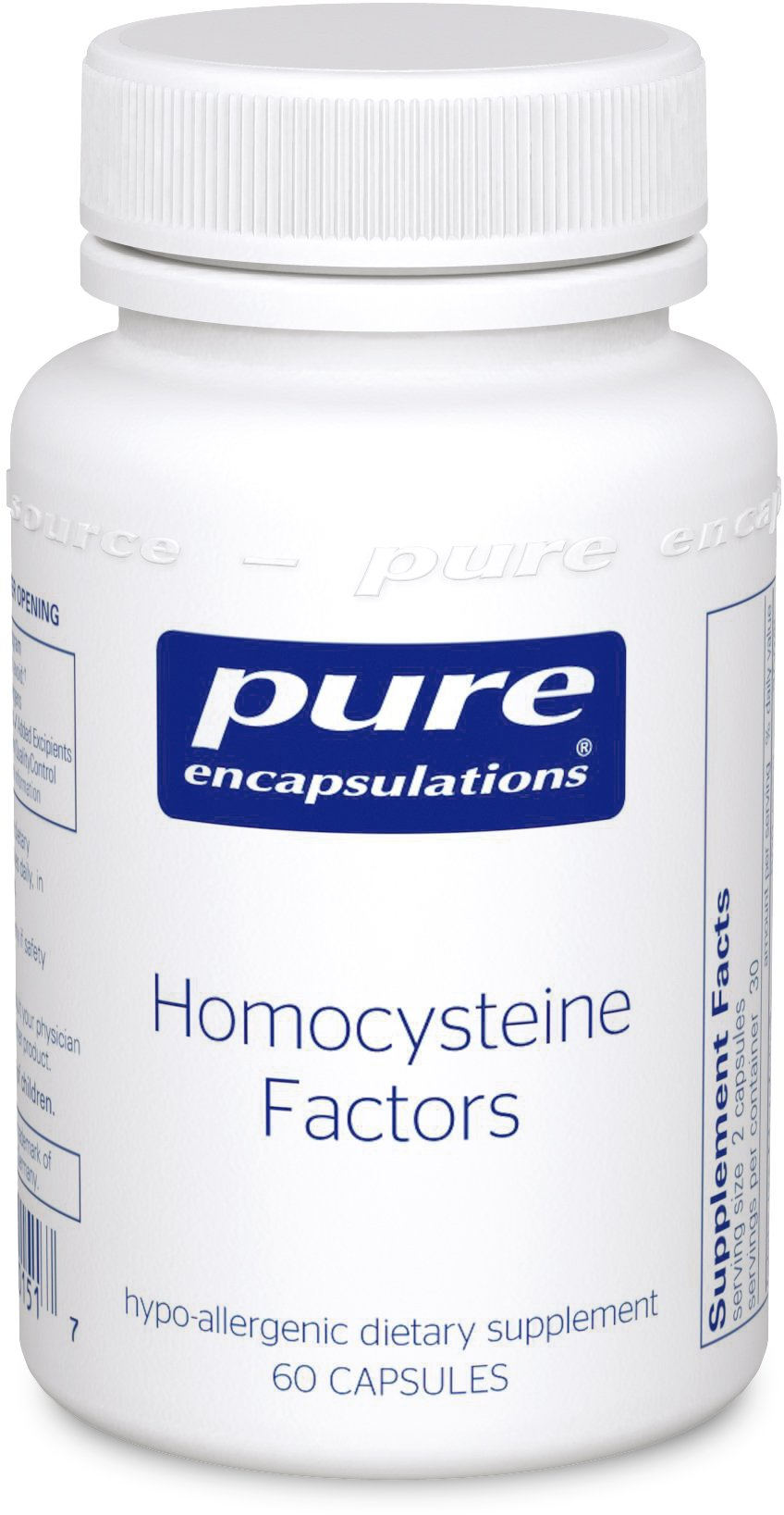 Pure Encapsulations - Homocysteine Factors - Hypoallergenic Supplement Helps Maintain Normal Homocysteine Levels and Cardiovascular Health* - 60 Capsules
