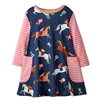Amazon.com: Girls Unicorn Dress Baby Dresses Animal Applique Princess Dress Christmas: Clothing