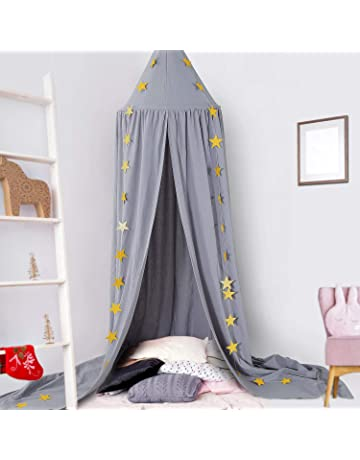 quysvnvqt Children Baby Bed Canopy Round Dome Cotton Mosquito Net Nursery Room Decoration for Home Use White