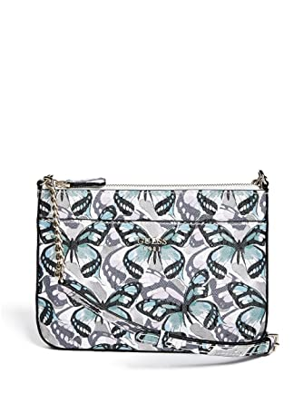 Amazon com: GUESS Flutter Top-Zip Small Crossbod: Clothing