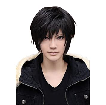 ATOZWIG Cosplay Wig Anime Costume Men Male Short Black Heat Resistant Synthetic Hair Wigs Peruca Pelucas