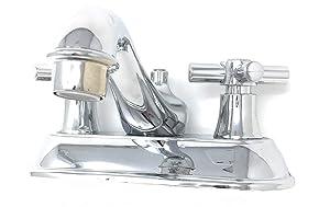 """Bathroom Basin Sink Faucet 4"""" Base; Chrome ABS construction [1108] - Grifo para baño de cromo, Base 10.16 cm"""