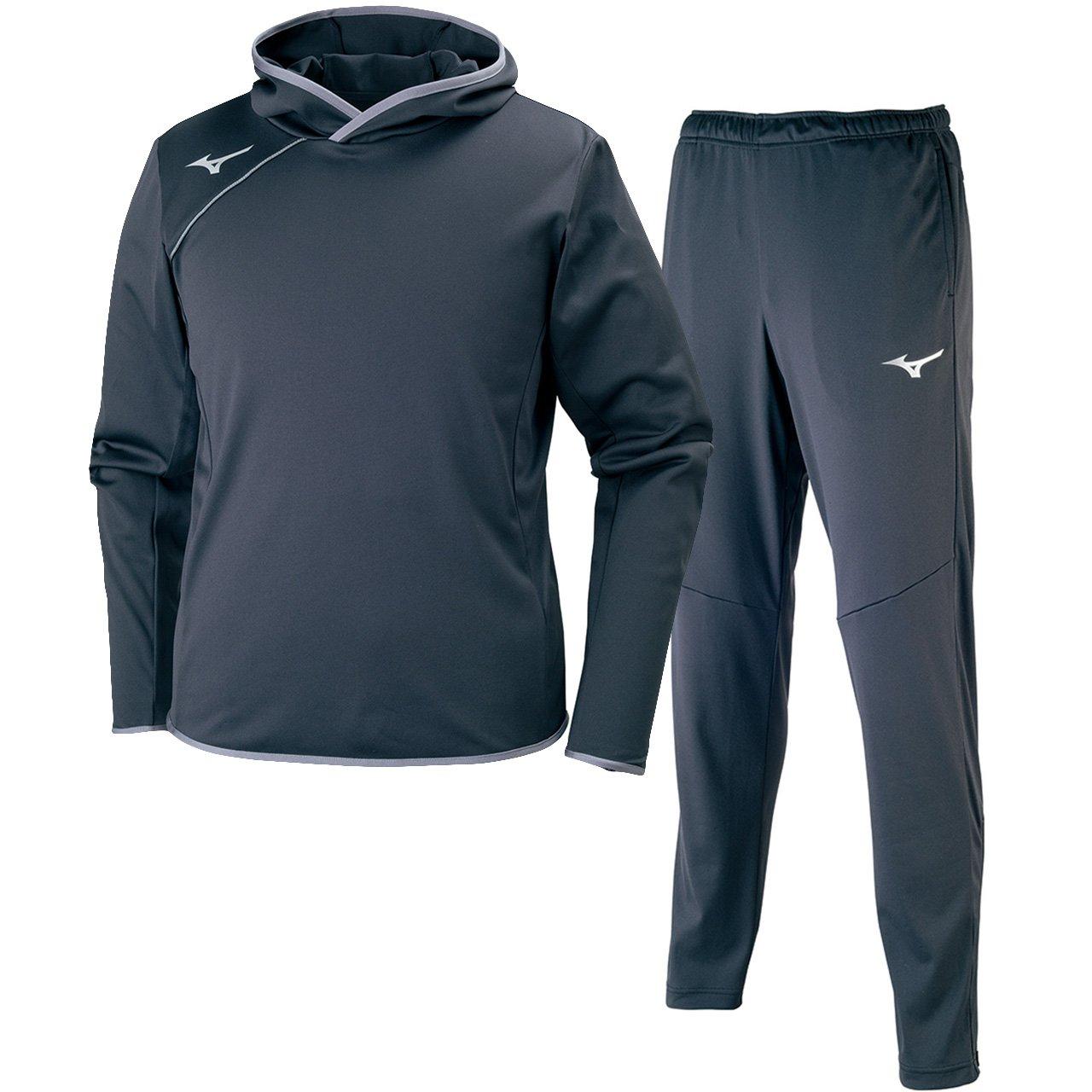 ミズノ(MIZUNO) Softストレッチシャツ&ストレッチパンツ 上下セット(ブラックシルバー/ブラックシルバー) V2ME7521-90-V2MF7520-90 B075V1YC6D ブラックシルバー XL
