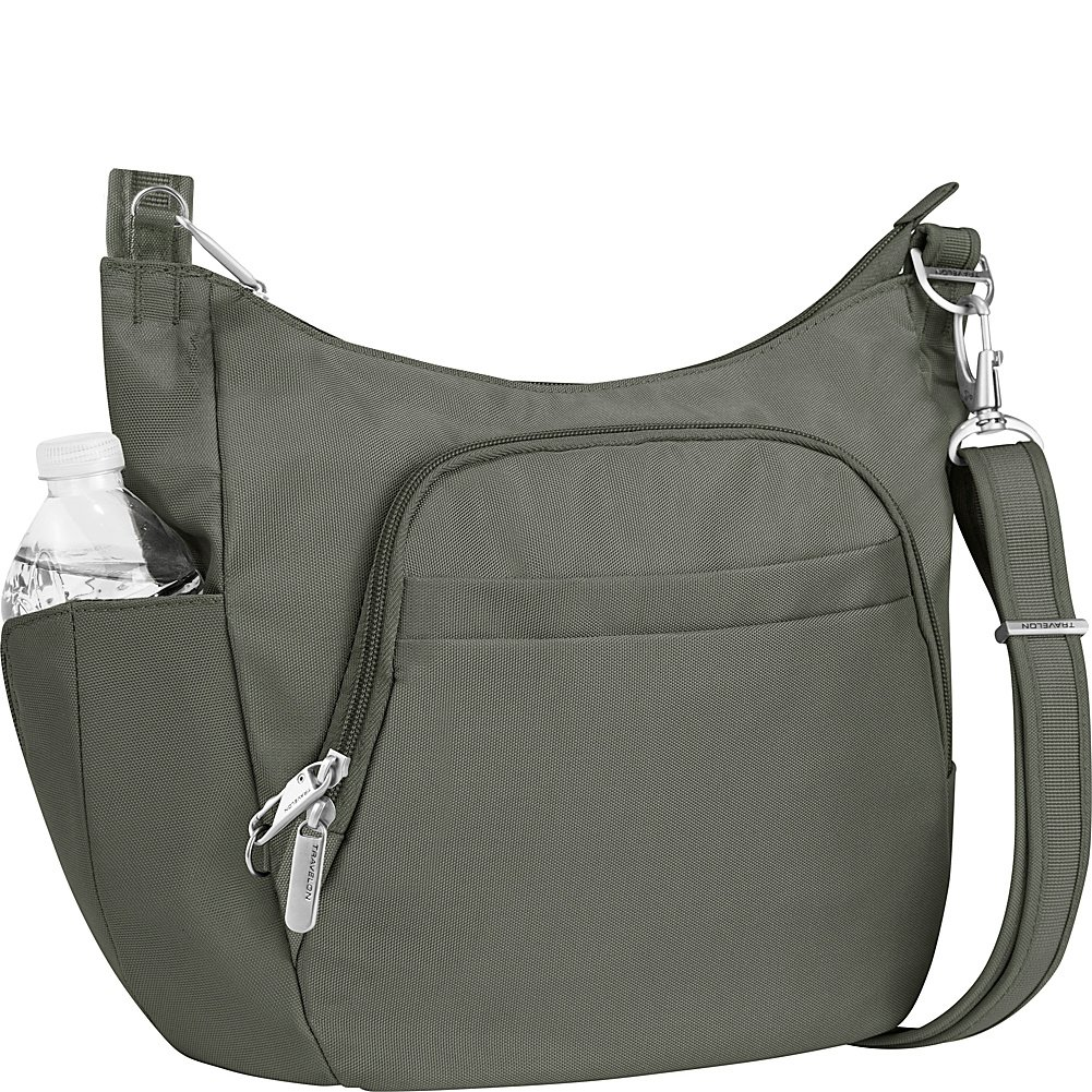 Travelon Anti-Theft Classic Crossbody Bucket Bag - Colors (Pewter by Travelon
