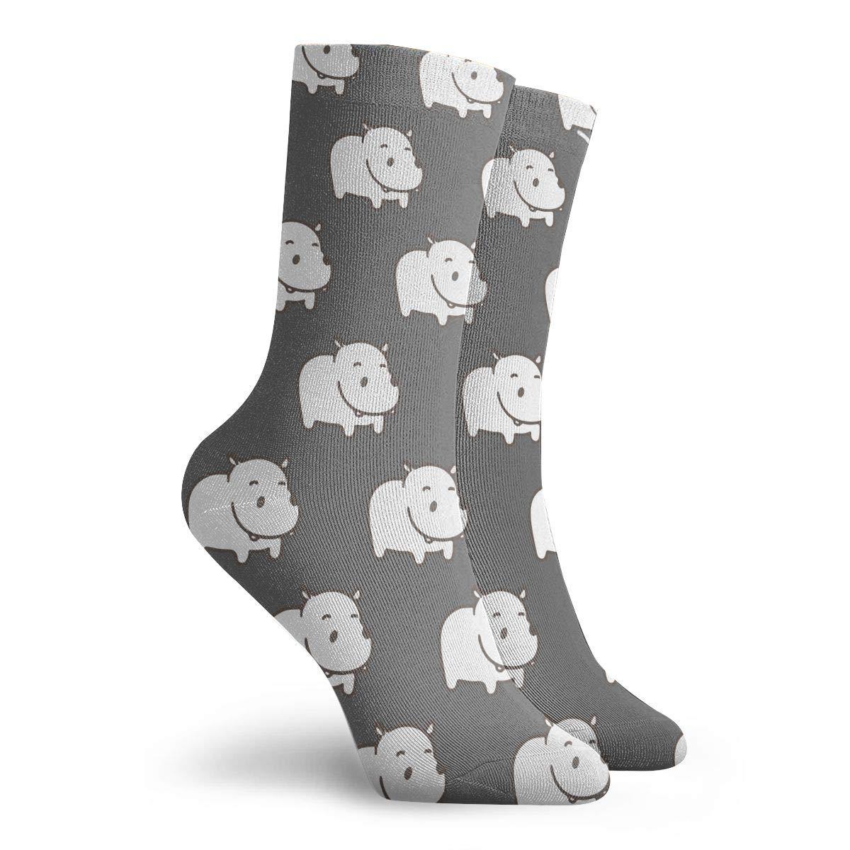 Baby Hippo Unisex Funny Casual Crew Socks Athletic Socks For Boys Girls Kids Teenagers