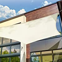 Patio Shack Zonnescherm Zeil 2x2 Meter Vierkant Waterdicht, 98% UV Blok PES voor Tuin Patio Luifel met Gratis Touwen…