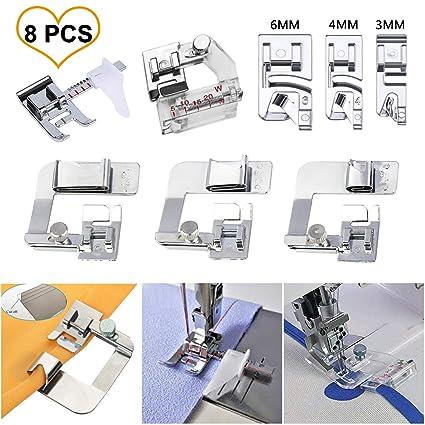 Amazon.com: HONEYSEW Sewing Machine Presser Feet 3Pcs Rolled ...