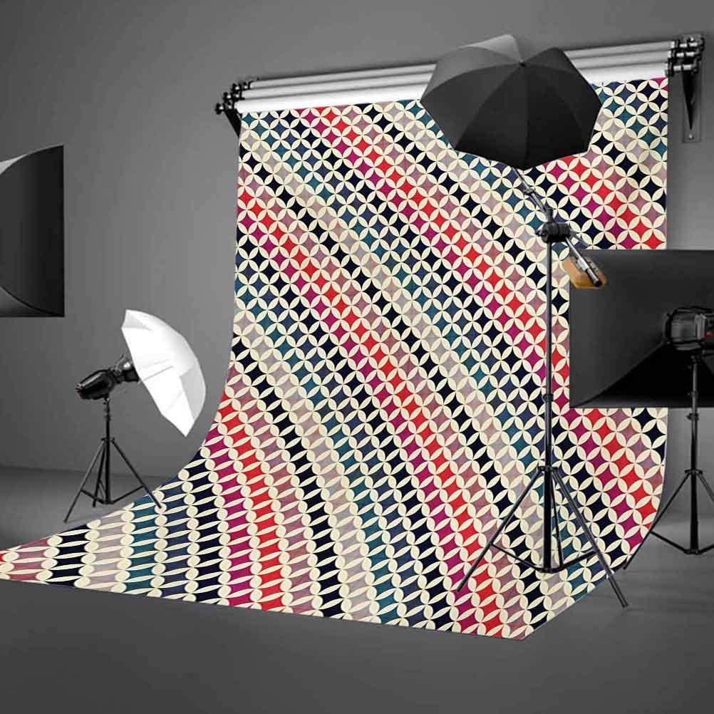 Colorful 10x15 FT Photo Backdrops,Interlocking Grid Motif Pattern with Colorful Diagonal Stripes Vibrant Background Background for Child Baby Shower Photo Vinyl Studio Prop Photobooth Photoshoot