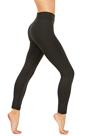 276c0ff352c2f9 CodeFit Premium Thick Fleece High Waist Wide Waistband Tummy Control Thick Winter  Leggings (S