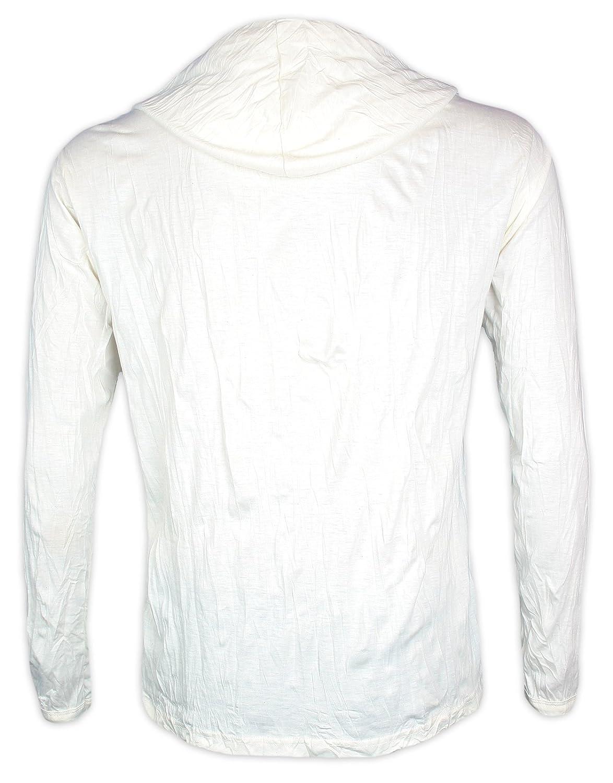 Pure Camiseta con Capucha Hombre Setas psicodélicas Talla M L XL Hongos Yoga Boho Namaste Y Conductos Hoja de Cannabis (M, Blanco): Amazon.es: Ropa y accesorios