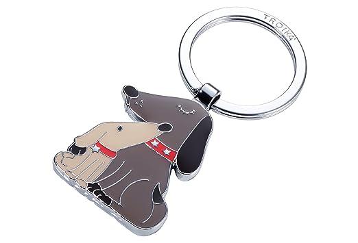 Amazon.com: Troika perro & Doggy – KR18 – 05/BR – Llavero ...