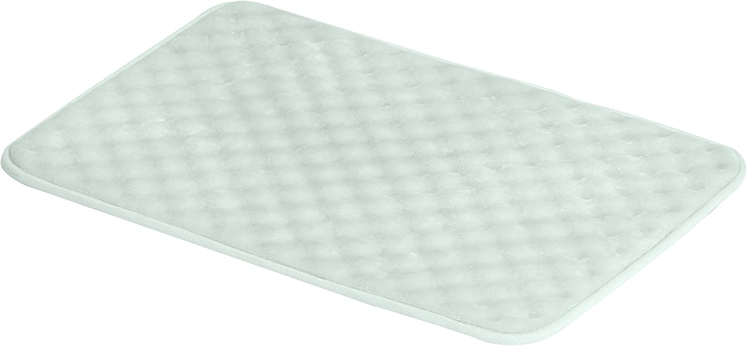 AmazonBasics Rippled Memory Foam Bath Mat - Small, Green