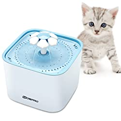 Pet Fountain Cat Water Dispenser - Healthy and Hygienic Drinking Fountain 2L Super Quiet Flower Automatic Electric Water Bowl