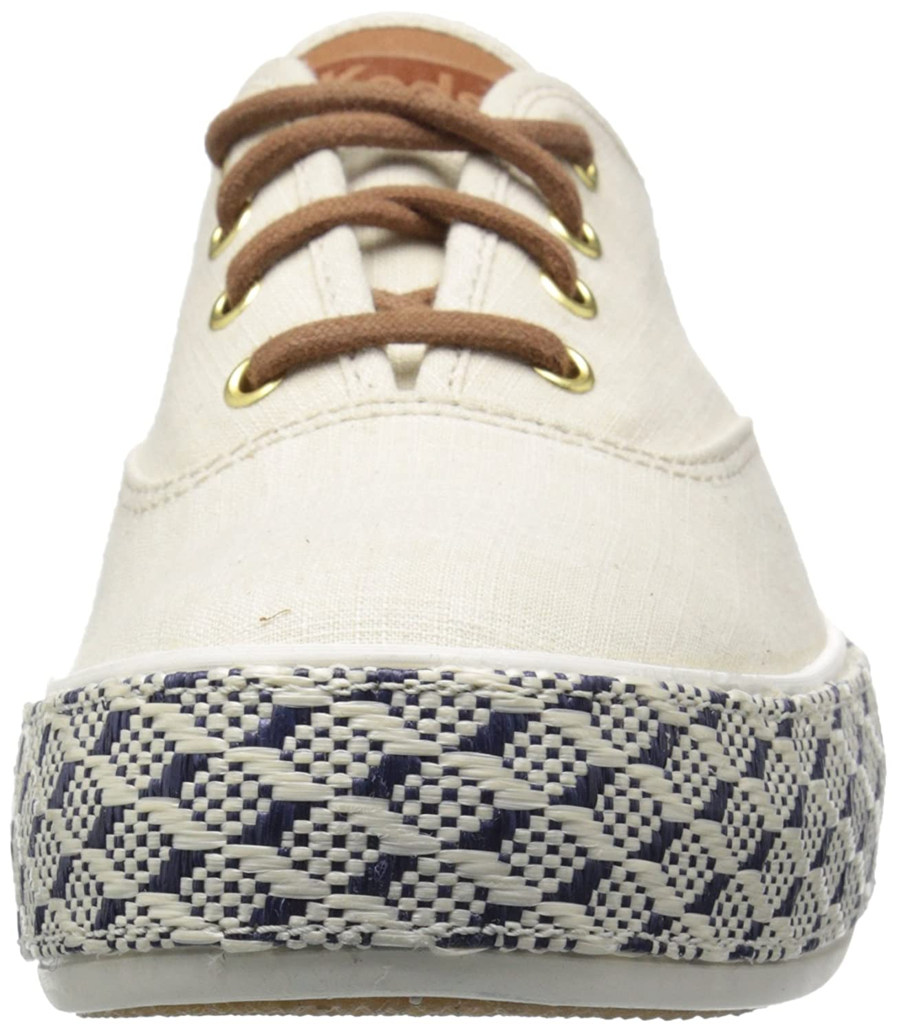 Keds Womens Triple Raffia Foxing Fashion Sneaker Golf Wiring Schematicit Shortsi Put The Positive Battery Cable On Sneakers