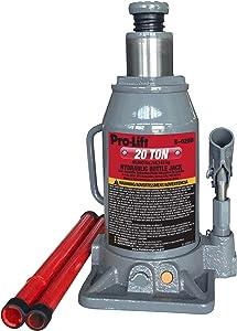 Pro-Lift B-020D Grey Hydraulic Bottle Jack - 20 Ton Capacity