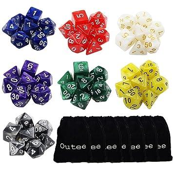 14 stücke Polyhedral Dice Sterben Set für Dungeons und Dragons RPG MTG Spiele