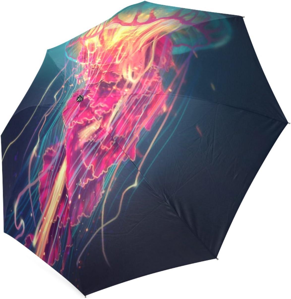 Personalized Jellyfish Foldable Raining Umbrella