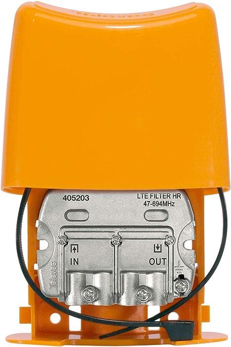 Filtro LTE 5G de Exterior para Canal 48 con Paso DC
